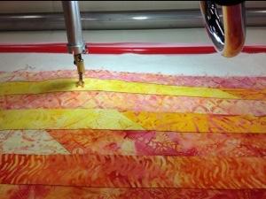 Top view of Innova Longarm quilting machine