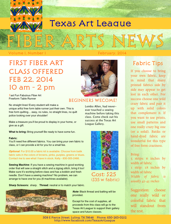 Detailed Information about the Free Form Table Runner Class Feb 22, 1014