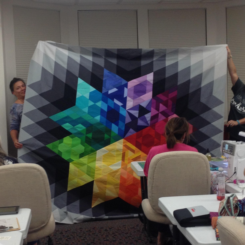 gravity quilt  pieced top