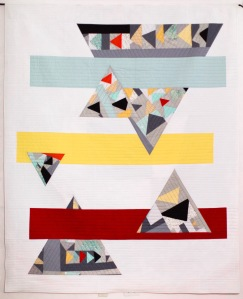 Balancing Changes - San Antonio Modern Quilt Guild 2016 Challenge Charity Quilt , view of quilt front.